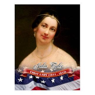 Cartão Postal Julia Tyler, primeira senhora dos E.U.