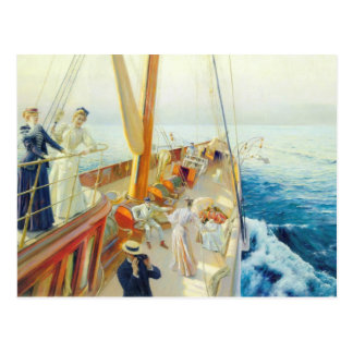 Cartão Postal Julius Stewart que Yachting no mediterrâneo