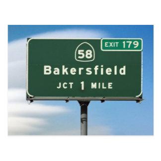 Cartão Postal Junção de Bakersfield da estrada 58 de CA