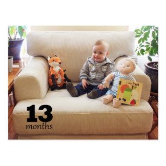 Cartão Postal Junco - 13 meses