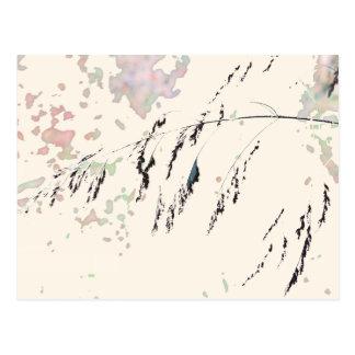 Cartão Postal Juncos do lago - de creme e pastels silenciado