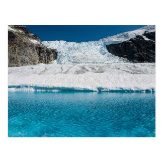 Cartão Postal Juneau Icefield Icefall e lago glacial super