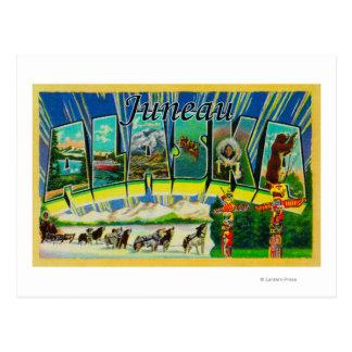 Cartão Postal Juneau, letra ScenesJuneau de AlaskaLarge, AK