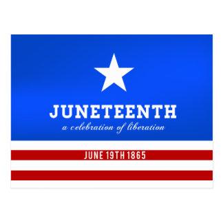 Cartão Postal Juneteenth uma celebração da libertação