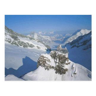 Cartão Postal Jungfraujoch, a parte superior de Europa