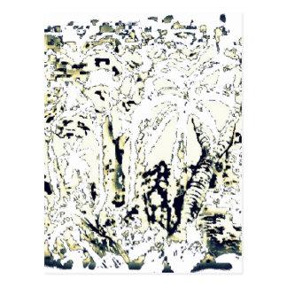 Cartão Postal jungle abstract