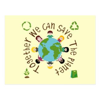 Cartão Postal Junto nós podemos salvar o planeta