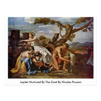 Cartão Postal Jupiter consolidou pela cabra por Nicolas Poussin