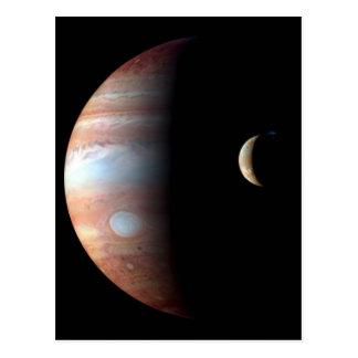 Cartão Postal Jupiter e lua crescente