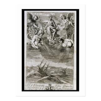 Cartão Postal Jupiter molda uma tempestade em cima do oceano,