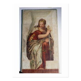 Cartão Postal Justiça, das paredes do sacristy (fresco)