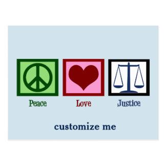 Cartão Postal Justiça do amor da paz