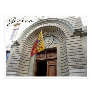 Cartão Postal justiça Genebra dos palais