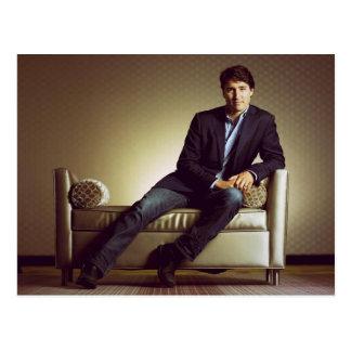 Cartão Postal Justin Trudeau nos jeans