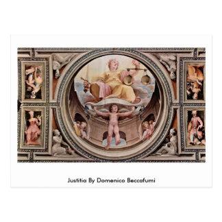 Cartão Postal Justitia por Domenico Beccafumi