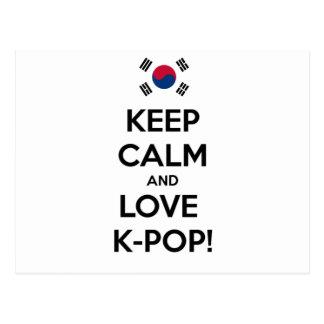 Cartão Postal K-Pop do amor!