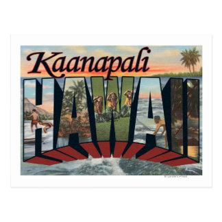 Cartão Postal Kaanapali, Havaí - grandes cenas da letra