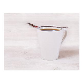 Cartão Postal Kaffeetasse com colher