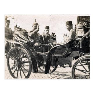Cartão Postal Kaiser e sultão
