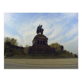 Cartão Postal Kaiser Wilhelm, Deutsches Eck, Koblenz, Alemanha