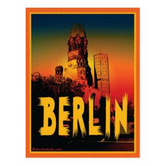 Cartão Postal Kaiser-Wilhelm-Gedächtniskirche em Berlim