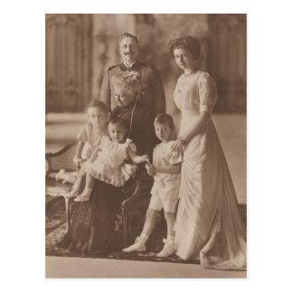 Cartão Postal KAISER Wilhelm Ii & filha & netos #041D