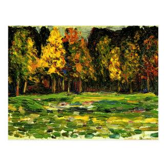 Cartão Postal Kandinsky - borda da floresta