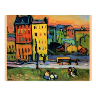 Cartão Postal Kandinsky - casas em Munich