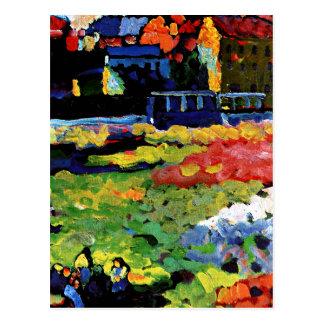 Cartão Postal Kandinsky - Munich-Schwabing com a igreja