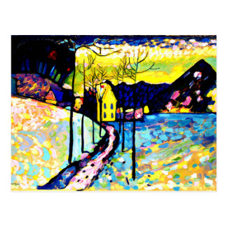 Cartão Postal Kandinsky - paisagem do inverno