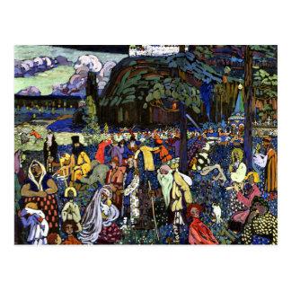 Cartão Postal Kandinsky - vida colorida