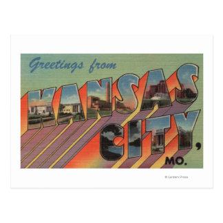 Cartão Postal Kansas City, Missouri - grandes cenas da letra