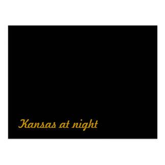 Cartão Postal Kansas na noite