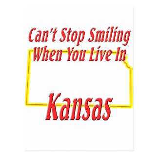 Cartão Postal Kansas - sorrindo