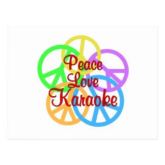 Cartão Postal Karaoke do amor da paz