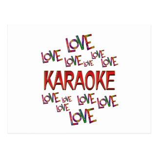 Cartão Postal Karaoke do amor do amor