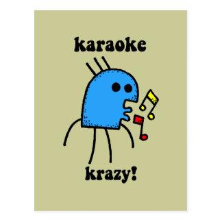 Cartão Postal karaoke engraçado