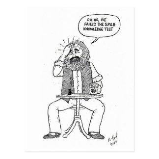 Cartão Postal Karl Marx que falha o teste de SPGB