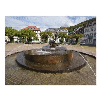 Cartão Postal Karlsplatz (o quadrado), cidade velha Heidelberg