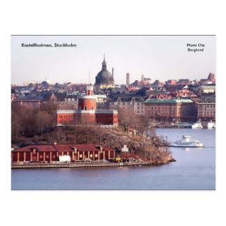 Cartão Postal Kastellholmen, Éstocolmo, foto O…