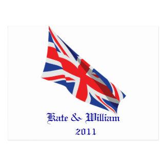 Cartão Postal /Kate Wedding real e William