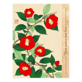 Cartão Postal Kawarazaki Shodo Calander floral de flores de