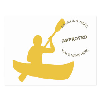 Cartão Postal Kayaking aprovado