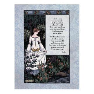 """Cartão Postal Keats do """"cartão da dama"""" Victorian do Belle La"""