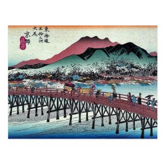 Cartão Postal Keishi por Ando, Hiroshige Ukiyoe