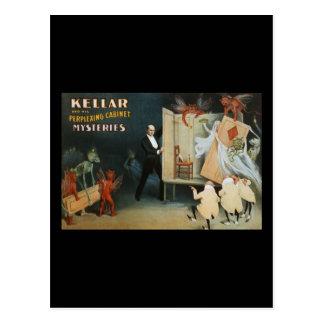 Cartão Postal Kellar e seus mistérios perplexos do armário