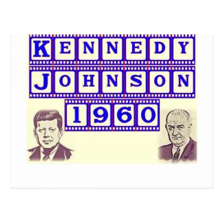 Cartão Postal Kennedy-Johnson 1960