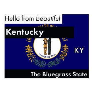 Cartão Postal Kentucky o estado do Bluegrass