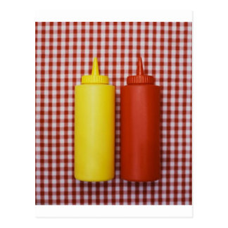 Cartão Postal Ketchup & mostarda
