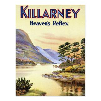 Cartão Postal Killarney, o reflexo do céu